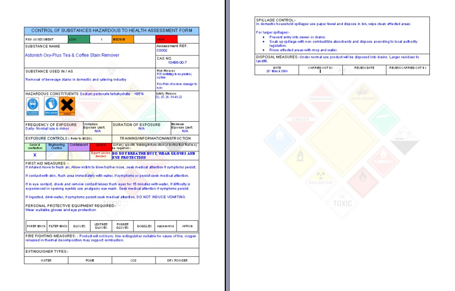 Painting And Decorating Risk Assessment Template