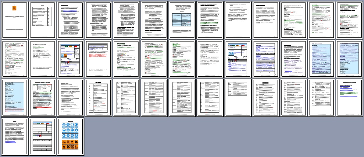 all pages in coshh pack