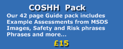 coshh pack banner