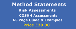 method statement risk assessment and coshh