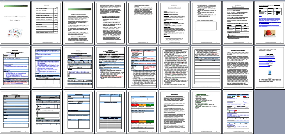 All pages in Method statement and risk assessment pack